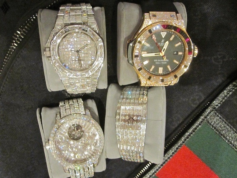 with m diamond watch crafted dripping encrusted mayweather floyd co dubai watches million hublot s in is mayweathers rafaello and bought diamonds