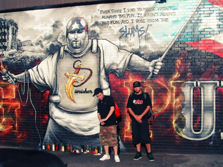 jeanius-kim-big-pun-mural-nyc-new-york-ny-camo-shorts-polo