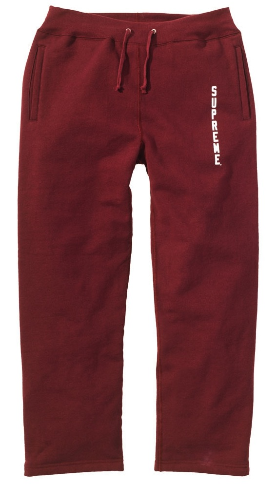 Supreme-Sweat-Pant-Burgundy