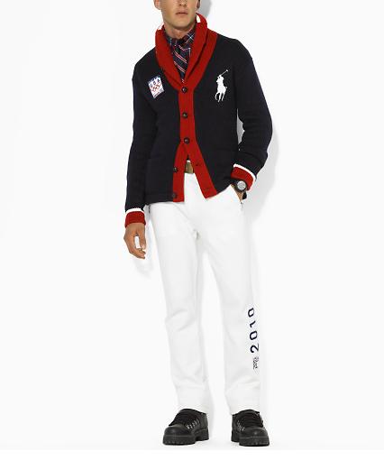 Polo Olympic Shawl Cardigan 109