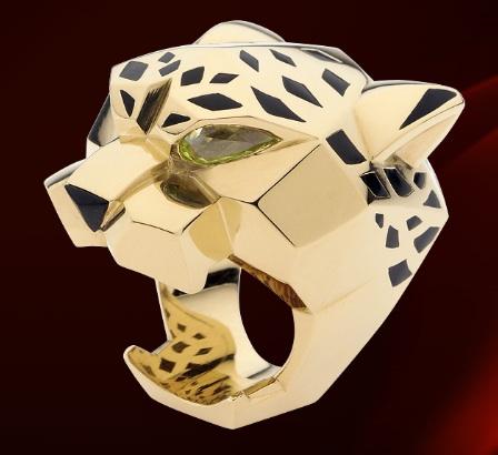 Cartier-Panthere-Panther-18K-Yellow-Gold-Peridot-Eyes-Ring