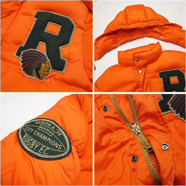 rugby-orange-ralph-lauren-down-jacket-details