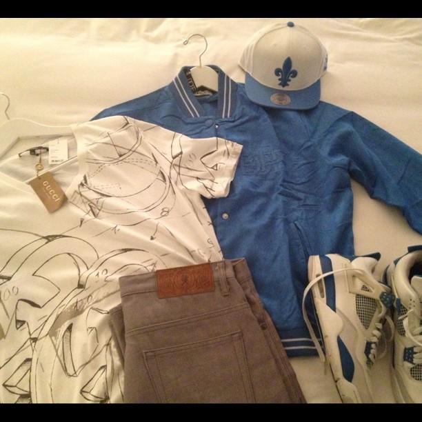 fabolous-gucci-shirt-dope-couture-jacket-jordan-4-blue
