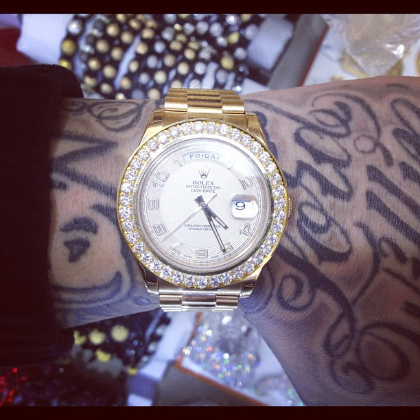 Rolex Necklace Tyga Jimmyboi-rolex-daydate-diamondTyga Rolex Chain