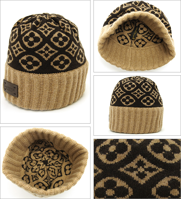 louis-vuitton-lv-bonnet-ski-hat-cashmere-beanie-monogram-brown-details