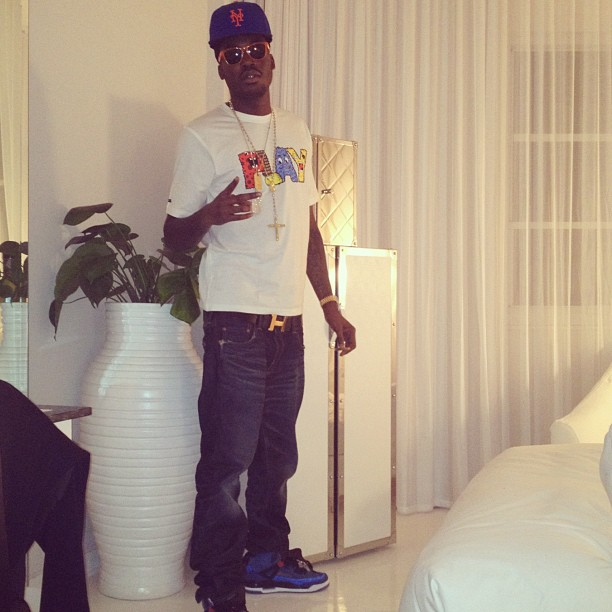meek-mill-new-york-mets-fitted-hermes-belt-jordan-spizikes-knicks