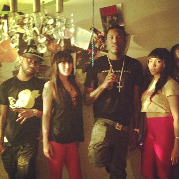 meek-mill-slowbucks-fendi-belt-electrolime-foamposites
