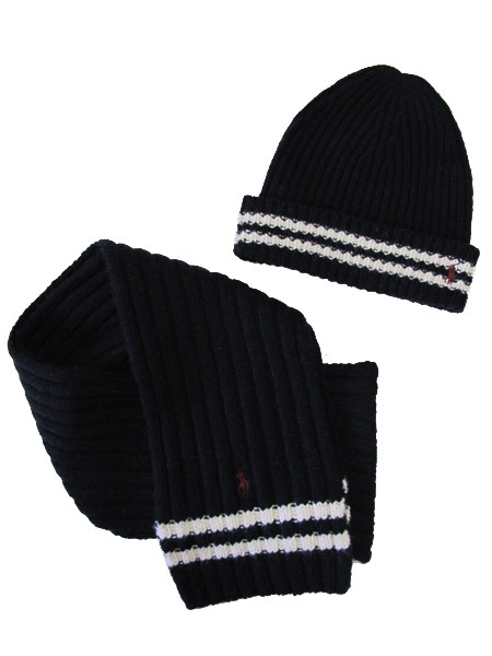 ralph-lauren-polo-winter-hat-skully-scarf-set