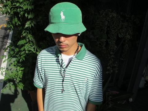 hidamnnn-big-pony-green-bucket-hat-polo-ralph-lauren-shirt