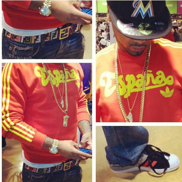 juelz-santana-adidas-spain-crew-sweatshirt-espana-fendi-belt-jesus-piece