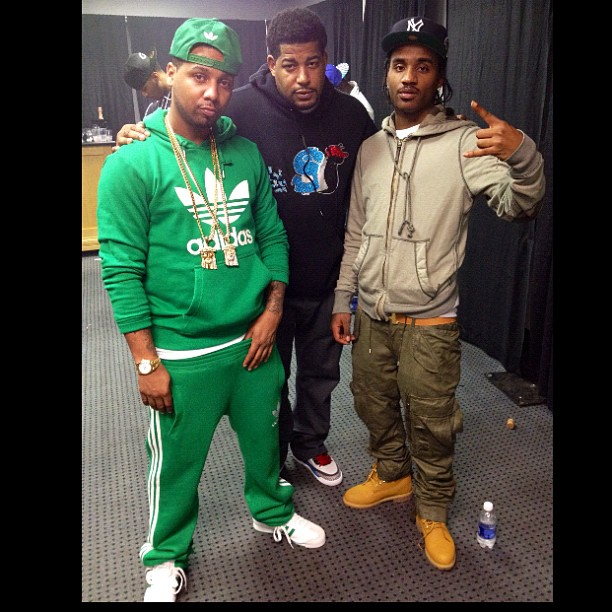 juelz-santana-slowbucks-adidas-green-hoody-shell-toes-superstar