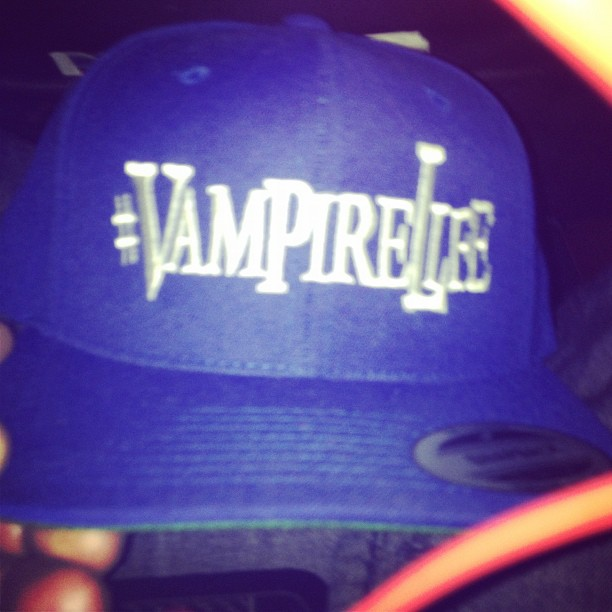 vampire-life-fitted-snapback-hat-blue