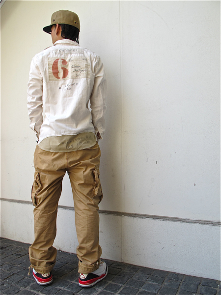 hidamnnn-denim-supply-graphic-shirts-patched-twill-polo-cargo-pants-air-jordan-3-back