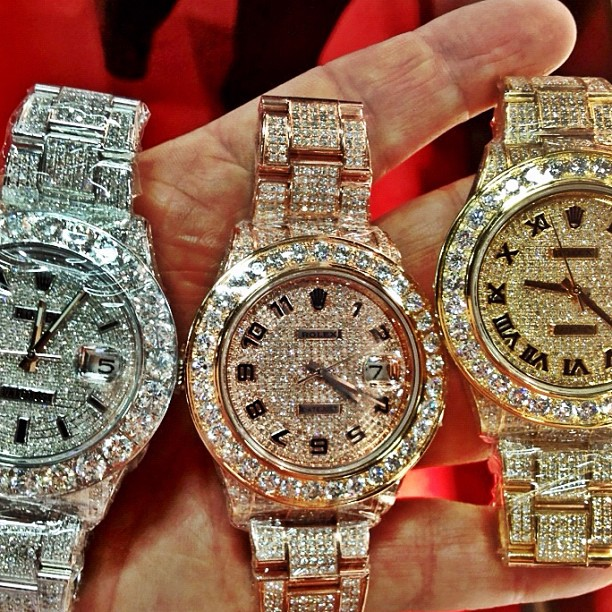 meek-mill-rolex-iced-out-datejust-watch-collection-rose-gold-yellow-gold-white-gold