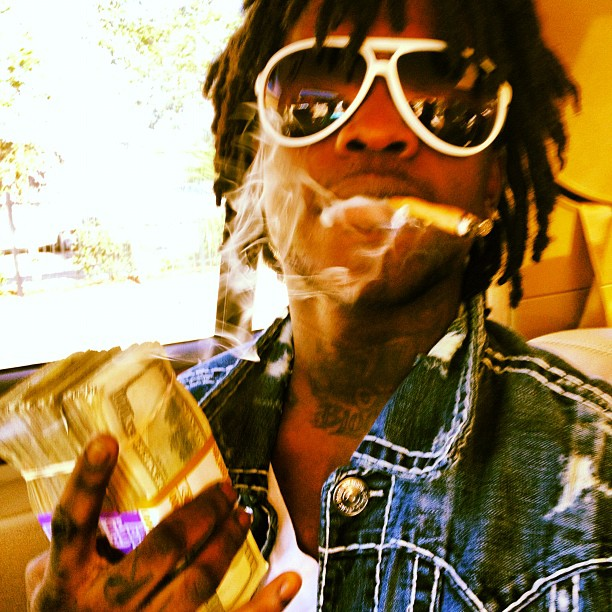 chief-keef-gucci-1030-white-sunglasses-true-religion-jimmy-jacket