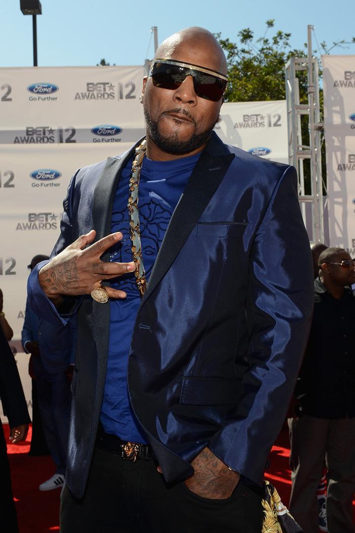 Young Jeezy Versace Life Splash At The 2012 Bet Awards