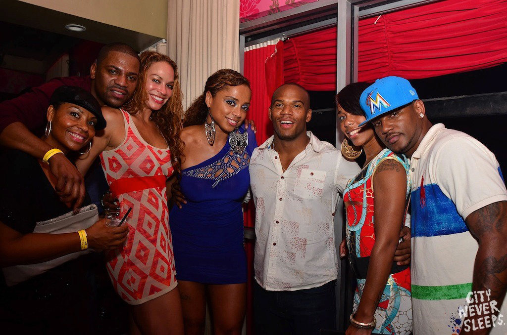 camron-mekhi-phifer-miami-dream-night-club-big-pony-striped-painted-polo