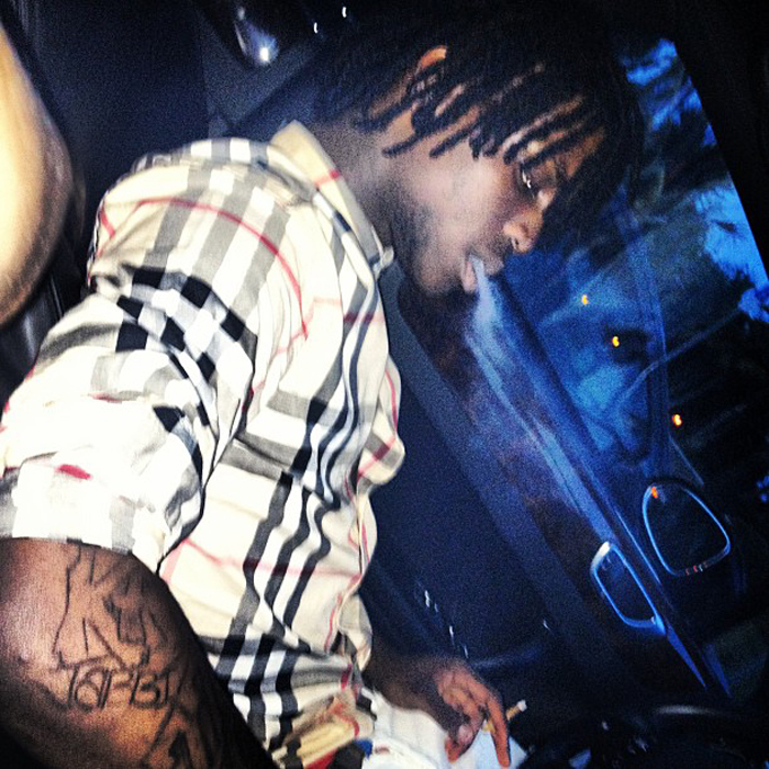 chief-keef-burberry-plaid-shirt-1