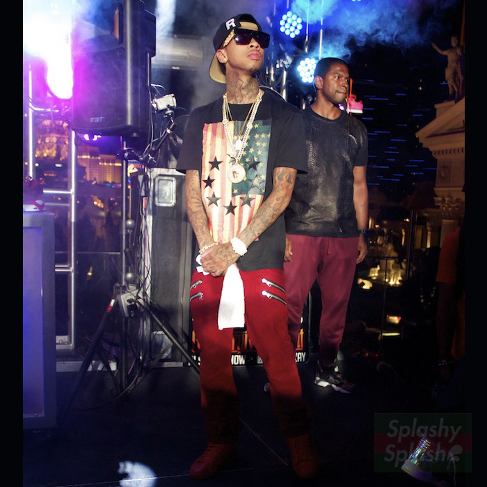Tyga-givenchy-us-flag-and-stars-shirt-balmain-homme-double-zip-pocket-biker-jeans-splashy-splash