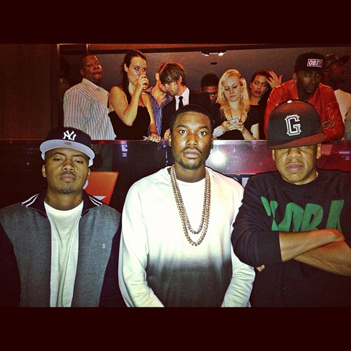 meek-mill-iced-out-gold-cuban-necklace-chain-bust-down-rolex-splashy-splash-nas-hov-jay-z
