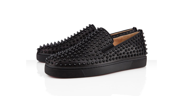 Christian-Louboutin-Roller-Boat-Flat-Spikes-All-Black