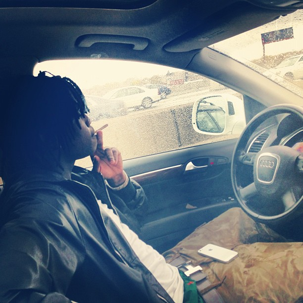 chief-keef-gucci-leather-hooded-bomber-jacket-polo-white-tee-hermes-belt