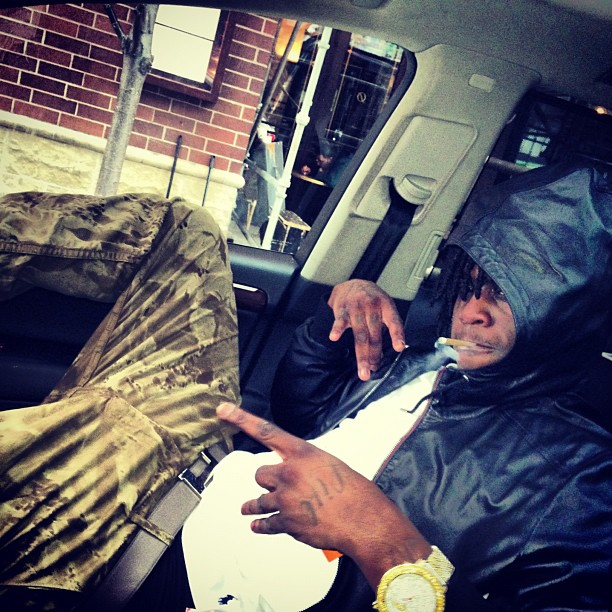 chief-keef-gucci-leather-hooded-bomber-jacket-polo-white-tee-hermes-h-belt
