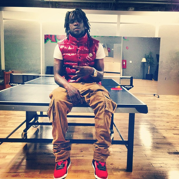 chief-keef-red-moncler-tib-quilted-down-vest-jordan-gym-red-spizike-2