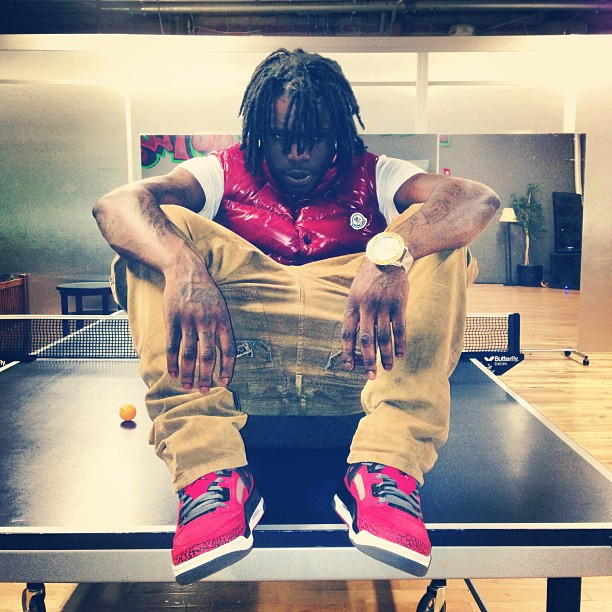 chief-keef-red-moncler-tib-quilted-down-vest-jordan-gym-red-spizike