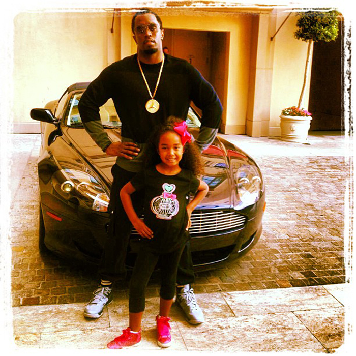 Diddy Rocking An Iced Out Mercedes Benz Logo Pendant