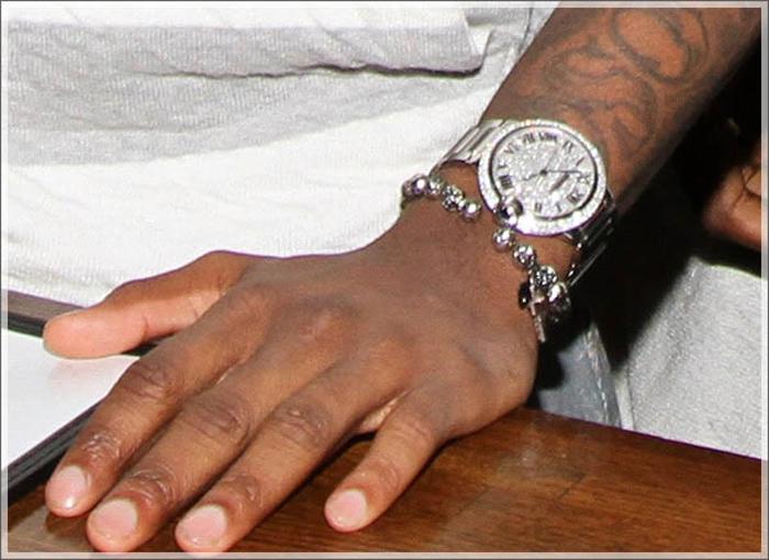 Fabolous Wearing Iced Out Cartier Ballon Bleu Watch
