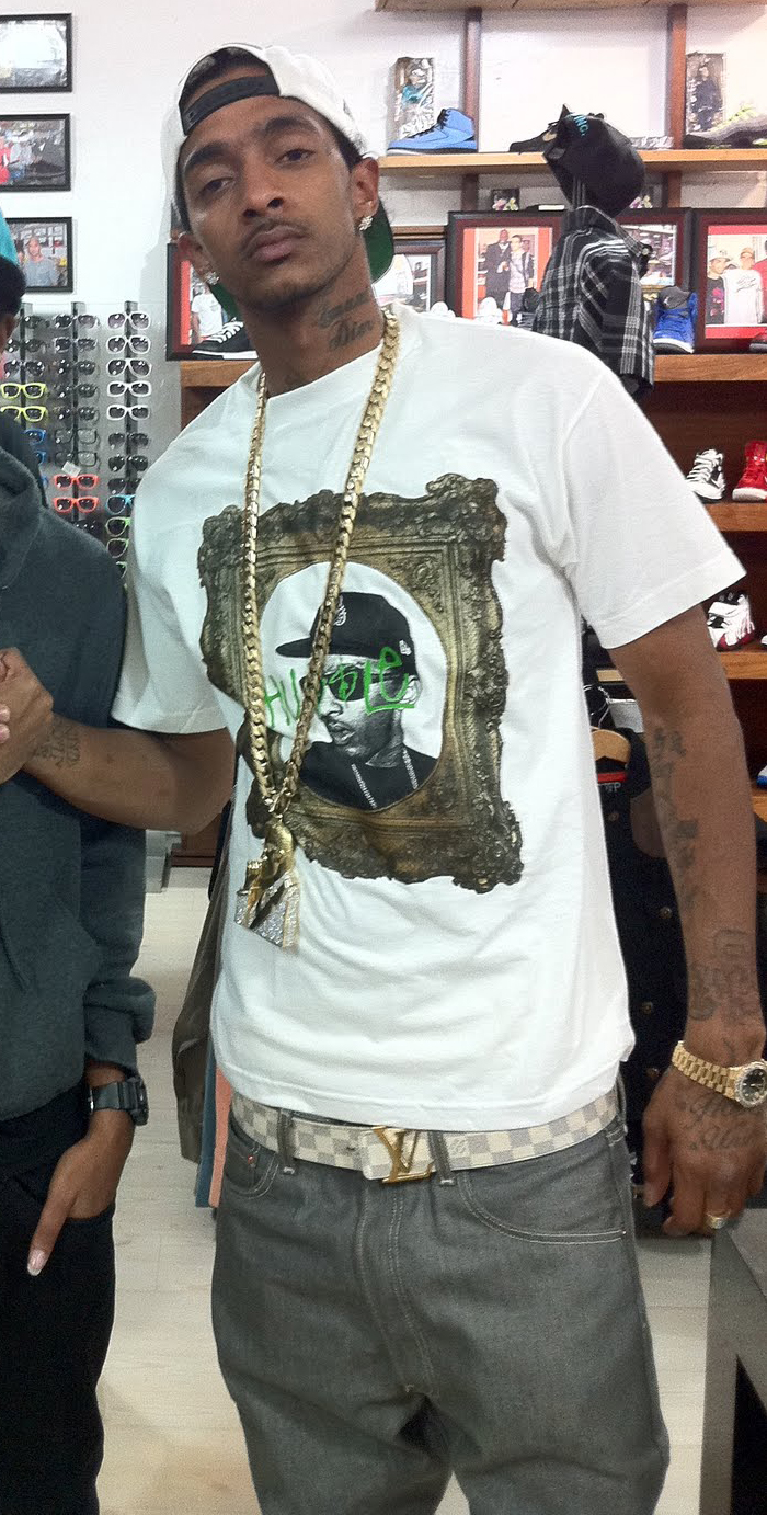 nipsey-hussle-yellow-gold-cuban-necklace-malcolm-x-chain-louis-vuitton-initiales-belt-rolex-day-date