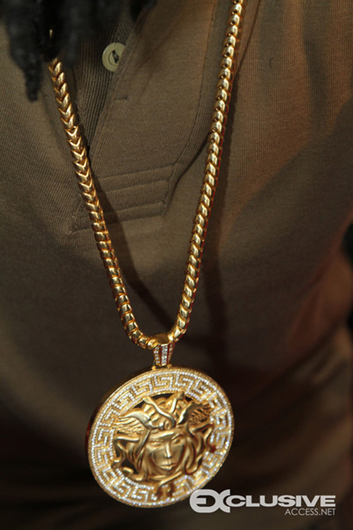 Wale iced out versace pendant chain splash splashy splash close up of wales versace mozeypictures Image collections