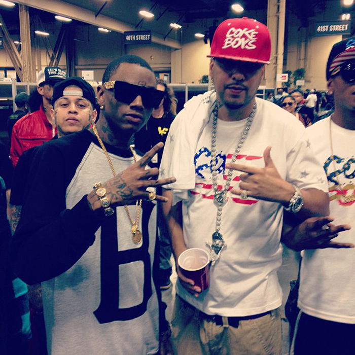 french-montana-coke-boys-team-usa-flag-shirt-coke-boys-hat-soulja-boy-splashy-splash