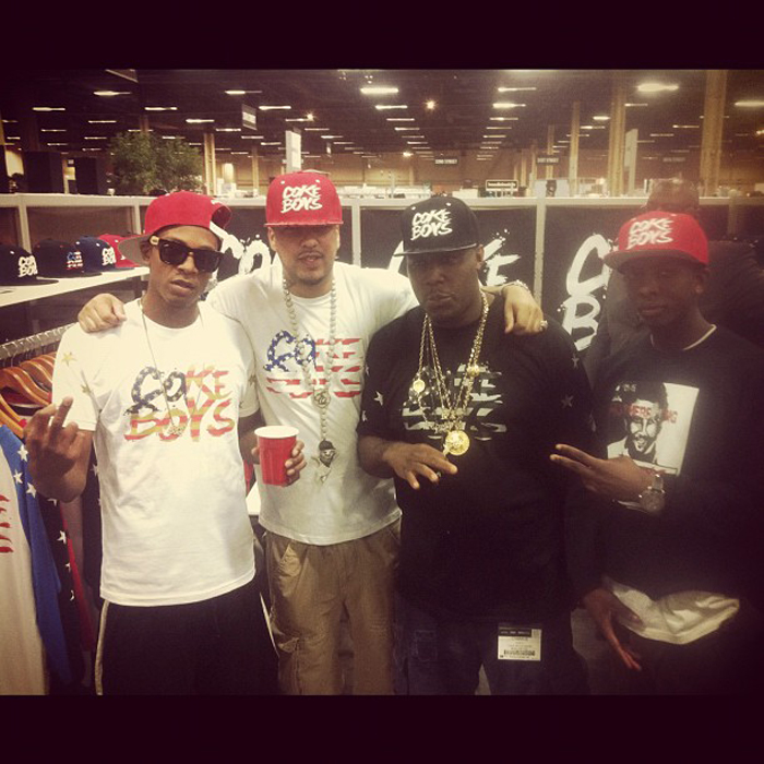 french-montana-coke-boys-team-usa-flag-shirt-coke-boys-hat-splashy-splash-2