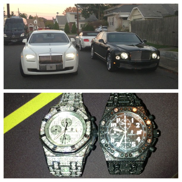 jim-jones-black-and-white-audemars-piguet-ap-watch-rolls-royce-phantom-ghost-black-bentley-azure
