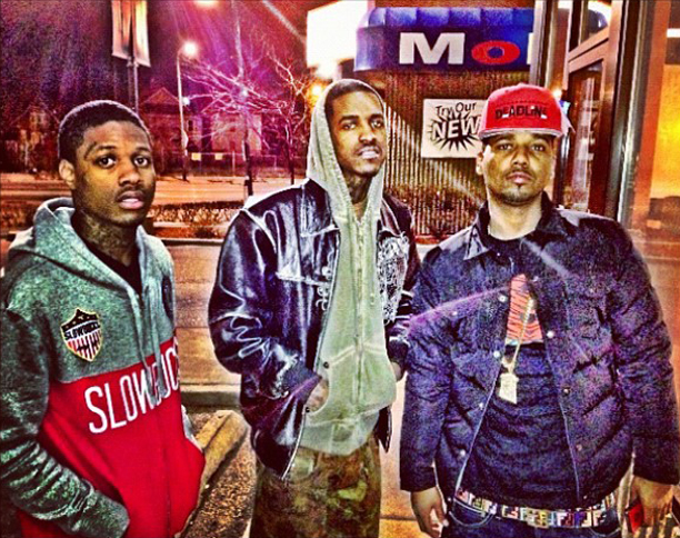 juelz-santana-penfield-rockford-jacket-slowbucks-shirt-fendi-belt-jesus-piece-lil-reese-lil-durk
