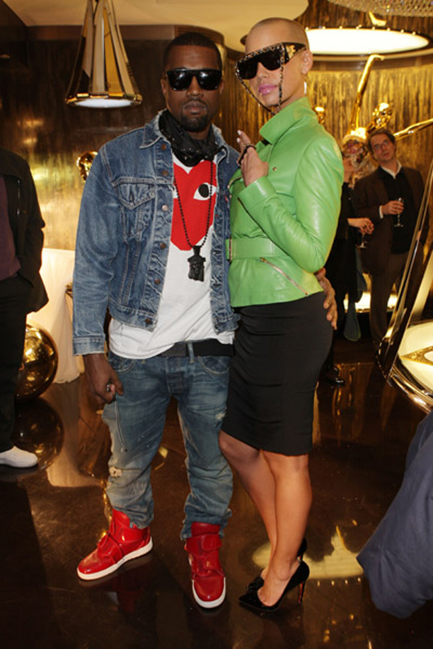 Kanye West Wearing Comme Des Garcons Play Red Heart Tee