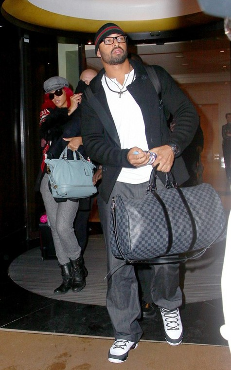 matt-kemp-gucci-beanie-louis-vuitton-duffle-keepall-rihanna