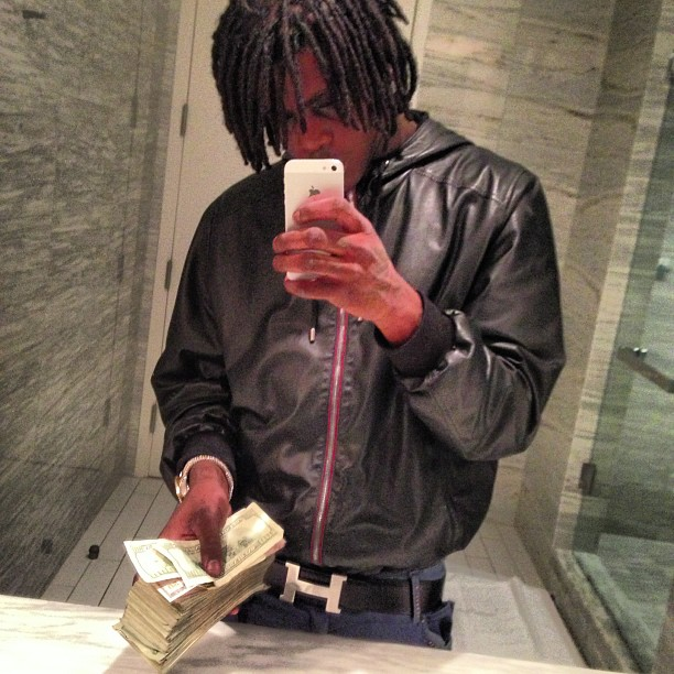 chief-keef-gucci-leather-hooded-bomber-jacket-black-hermes-belt