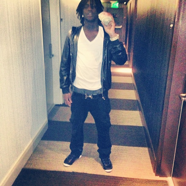 chief-keef-gucci-leather-hooded-bomber-jacket-hermes-belt-3