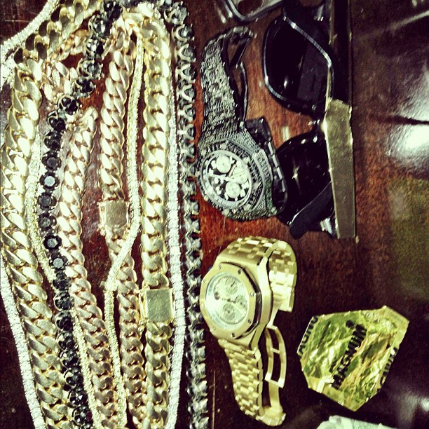 Meek Mill Yellow Gold Audemars Piguet Watch Splash