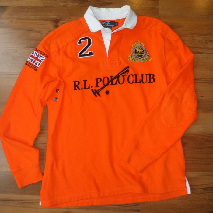 Gunz Cory Wearing Orange Polo Lauren Splash Ralph ShirtSplashy Rugby yNOvnwm80