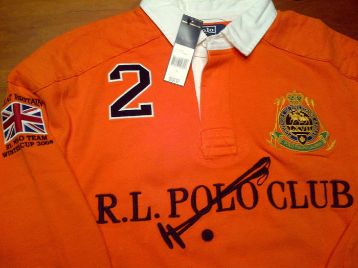 Cory Gunz Wearing Polo Ralph Lauren Orange Rugby Shirt