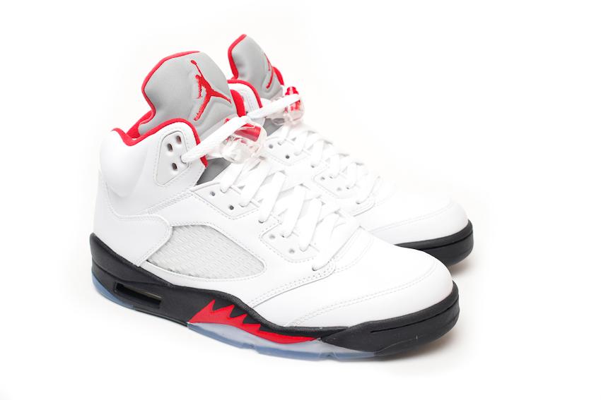 Air-Jordan-5-Retro-White-Fire-Red-Black