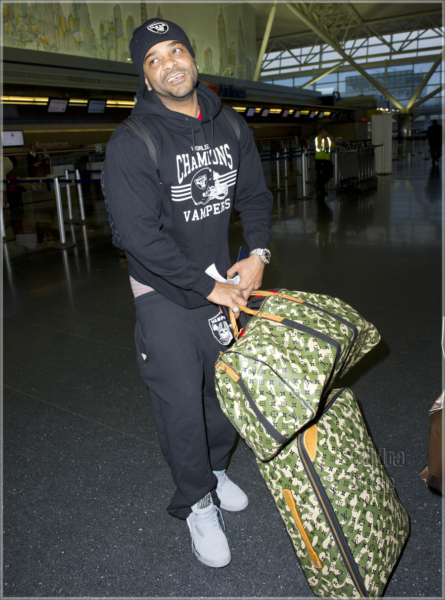 Rapper Jim Jones arrives to catch a flight at JFK airport in NYC