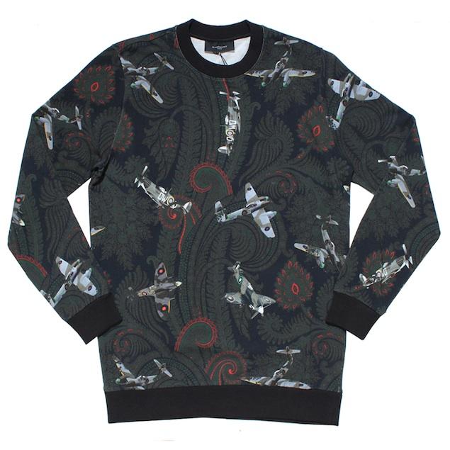 Givenchy-Green-Airplane-Paisley-Print-Sweatshirt-sweater-crewneck