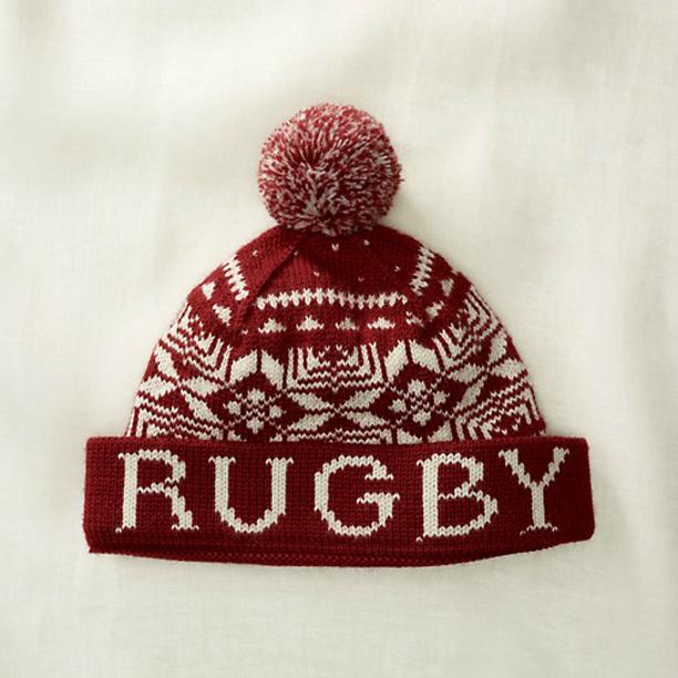 Rugby-Ralph-Lauren-Burgundy-Cream-Winter-Hat
