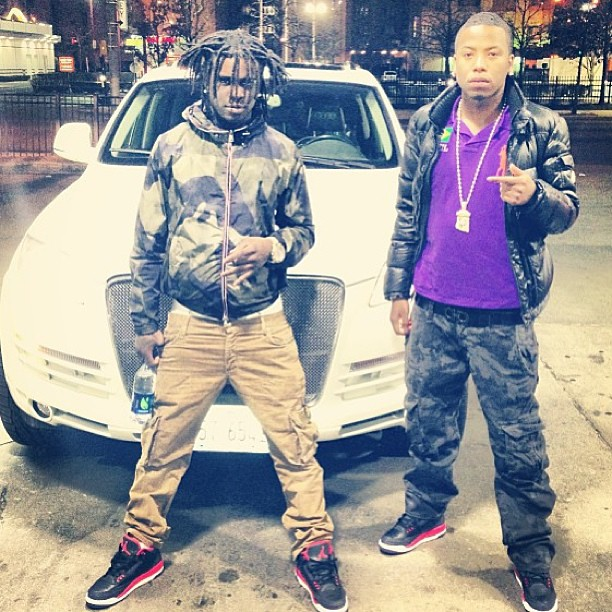 sneakers for cheap 4f243 1a1c5 Chief Keef Wearing Air Jordan 3 Bright Crimson On Feet ...