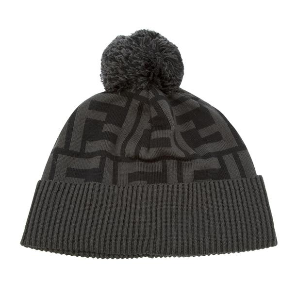 fendi-black-monogram-bobble-hat-beanie
